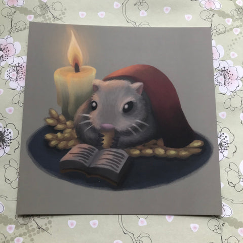 Winter Mouse/Hamster Square Post Card