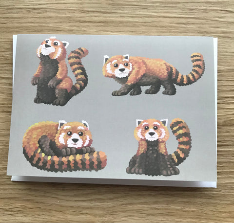 Red Pandas Blank Greeting Card