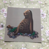 Brown Seal Square Post Card