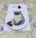 Himalayan Cat Mini Badge & Magnet Set