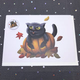 Animal greeting card and mini badge