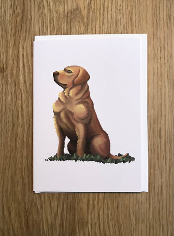 Dogs: Golden Labrador Blank Greeting Card