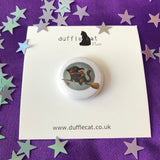 Halloween Witch Cat Mini Magnet