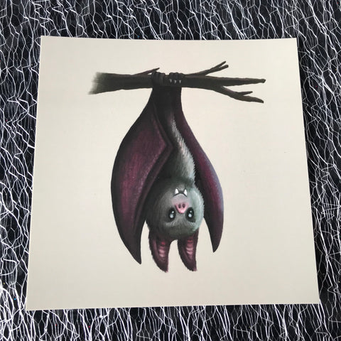 Halloween Bat Square Post Card