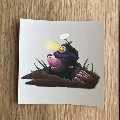 Mole Square Post Card