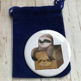 Sloth in a Box Pocket Mirror
