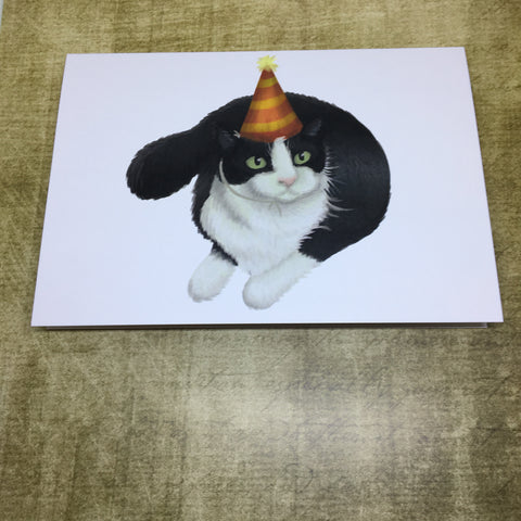 Party Cat Blank Greeting Card