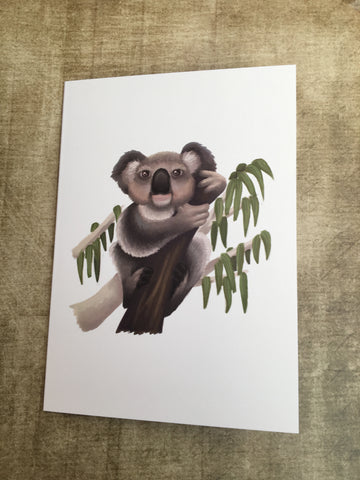 Koala Blank Greeting Card