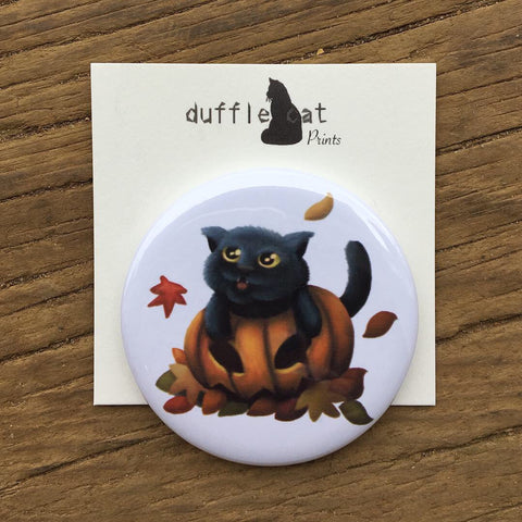 Four Seasons Cats: Autumn (Pumpkin Cat) Magnet
