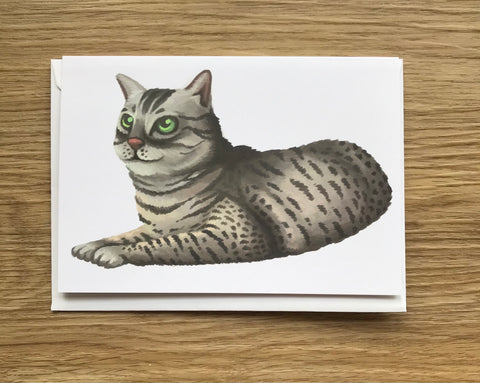 Cats: Egyptian Mau Cat Blank Greeting Card