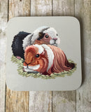 A pair of Guinea Pigs Coasters