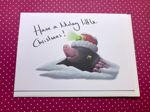 Have a Moley little Christmas Blank Greeting Card