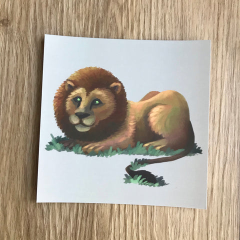 Lion Square Post Card