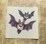 Flying Bats Square Post Card