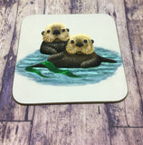 Set of 4 Sea Otters Coasters