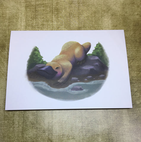 Platypus Blank Greeting Card