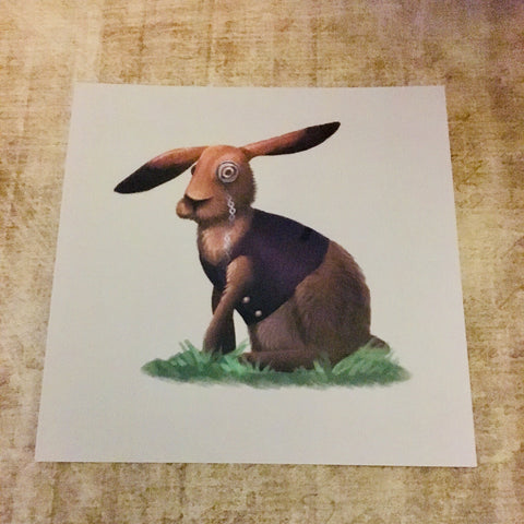 March Hare Square Post Card