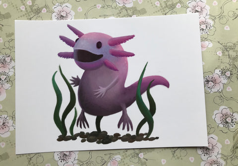 Axolotl Post Card