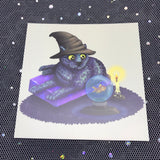 Mystical Cat Square Post Card