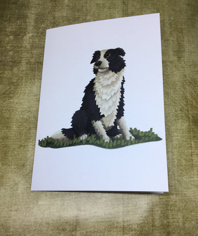 Border Collie Blank Greeting Card