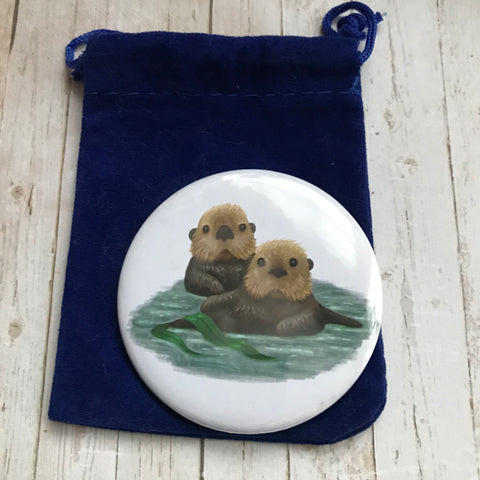 Sea Otters Pocket Mirror