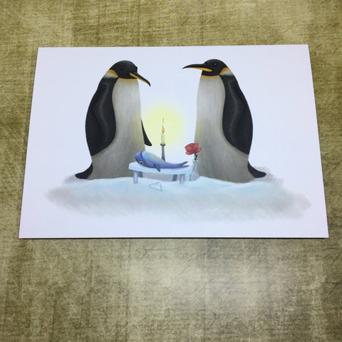 Love Penguins  Blank Greeting Card