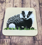Set of 4 Badger Coasters