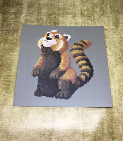 Red Panda Square Post Card (Design 1)