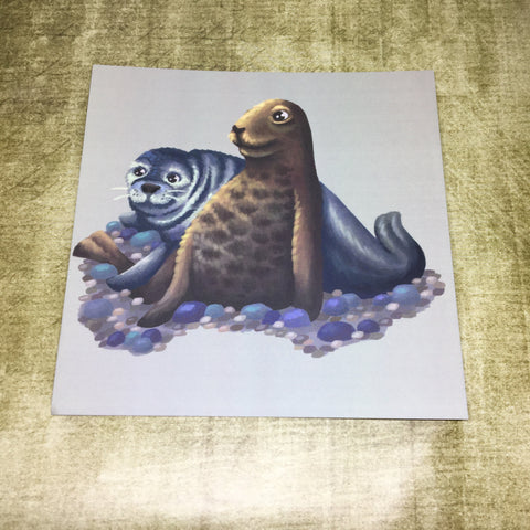 Seals Square Post Card