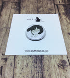 Cats: Black & White Cat Mini Magnet