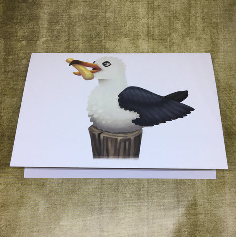 Sea Gull Blank Greeting Card