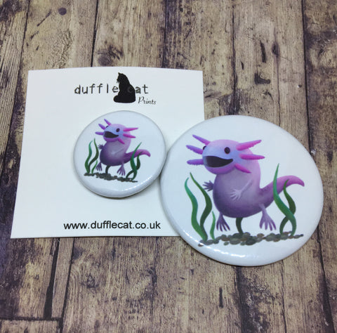 Axolotl Badge & Magnet Set