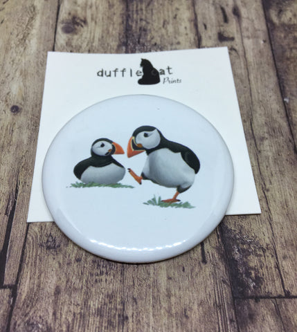 Puffins Badge and Magnet Set