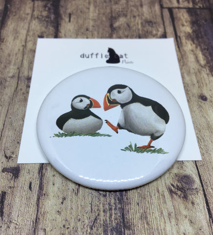 Puffins pocket mirror
