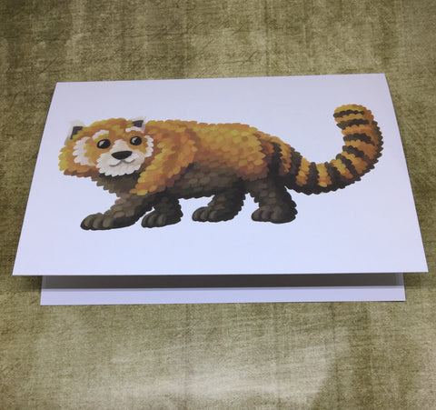 Red Panda Blank Greeting Card (design 1)