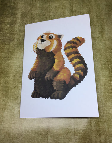 Red Panda Blank Greeting Card (design 4)