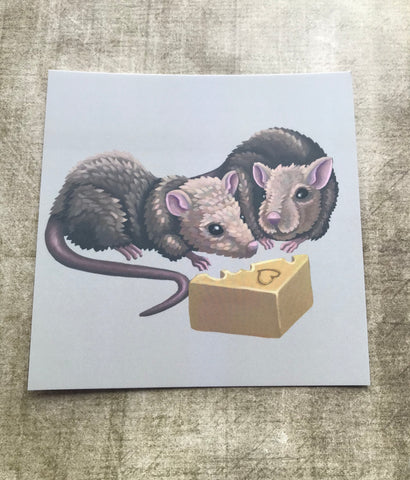 Rats Square Post Card