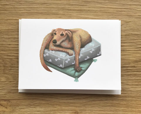 Lurcher Blank Greeting Card