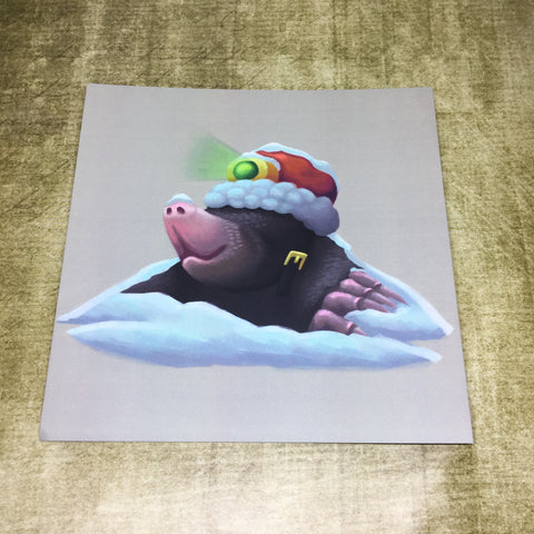 Christmas Mole Square Post Card