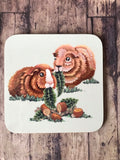 Ginger Guinea Pigs Coaster