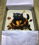 Set of 4 Pumpkin Cat Coasters