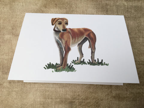 Dogs: Lurcher Blank Greeting Card