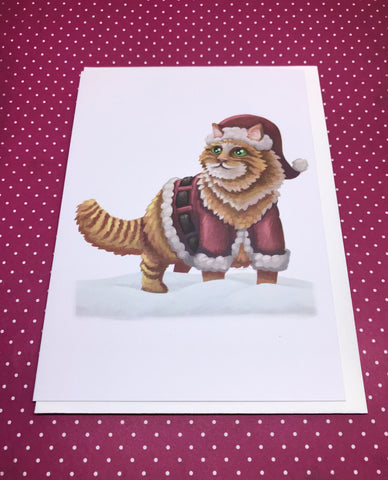Christmas Santa Claws Blank Greeting Card