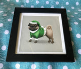 Christmas Elf Pug Limited Edition Art Print