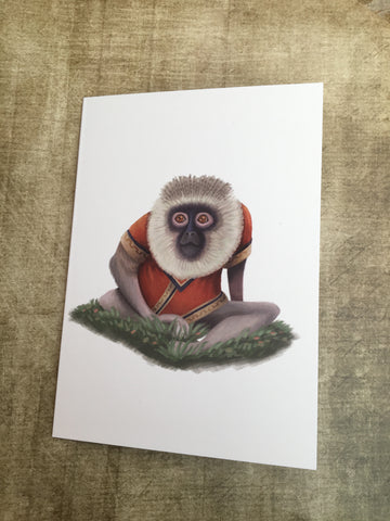 Monkey Blank Greeting Card