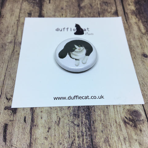 Cats: Black & White Cat Mini Badge