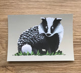 Animal A6 Post Card (Grey Background)