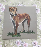 Standing Lurcher Square Post Card