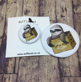 Sloth in a Box Mini Badge & Magnet Set