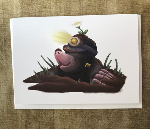 Mole Blank Greeting Card